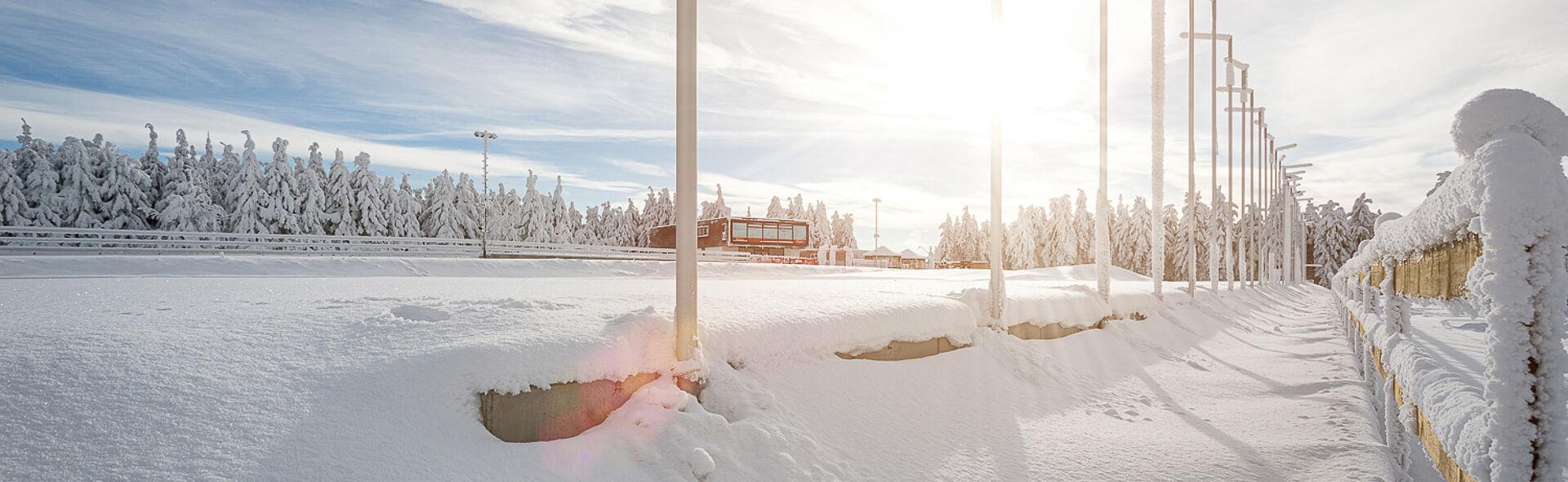 Skilanglauf Biathlon Nordische Kombination Trainingszentrum TrainingCenter Oberwiesenthal Fichtelberg Loipe