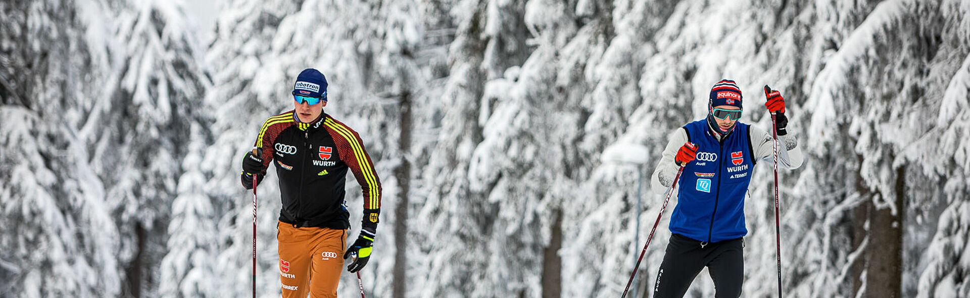Oberwiesenthal Skilanglauf Nordische Kombination Biathlon Fichtelberg Loipe Trainingszentrum TrainingCenter Richard Leupold Maxim Cervinka