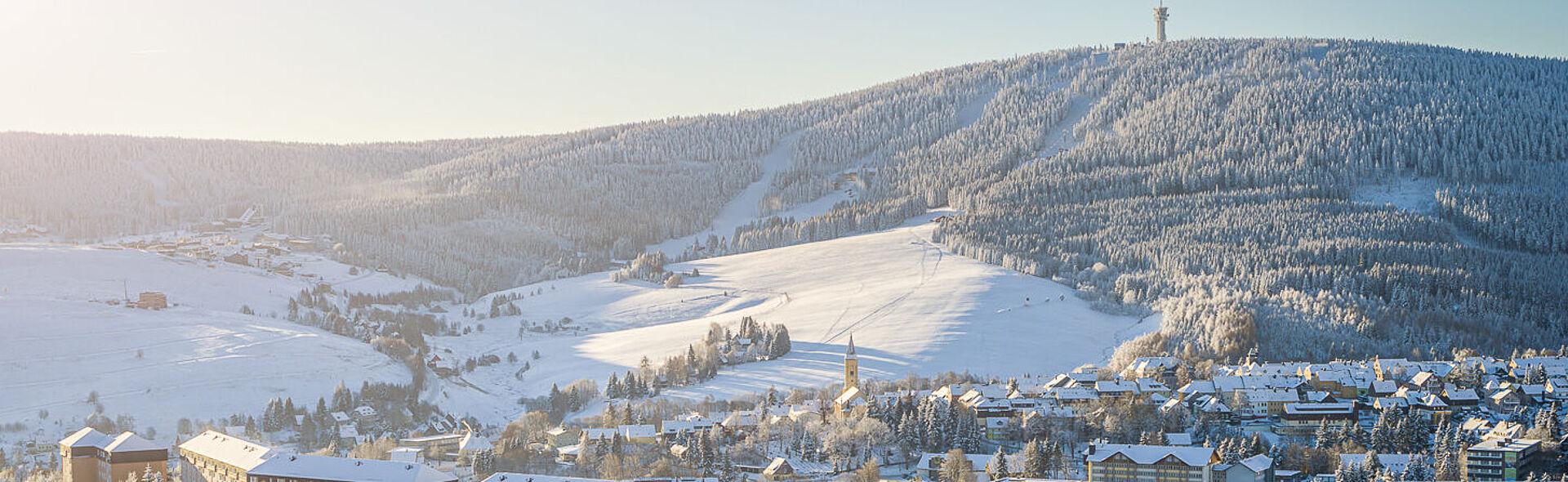 Oberwiesenthal Erzgebirge Kurort Winter Sachsen